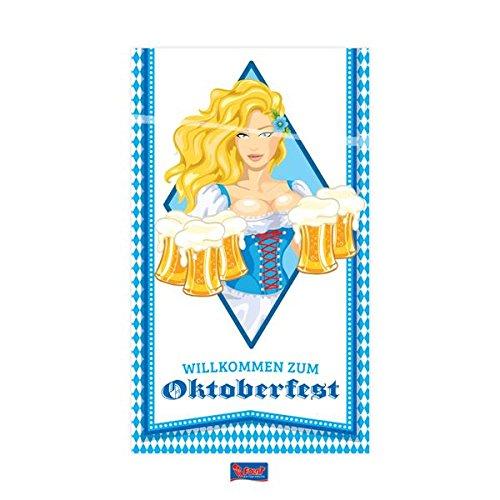 Folat: Türbanner * Oktoberfest * für die Wiesn und Eine Bier-Party | Tür Banner Poster Deko Dekoration Motto Bayern Oktober Fest Maßkrug Maßbier Maß