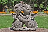Dragón! Jardín! Amantes! Bésate! - MystiCalls - GD-197 - Decoración de estatuilla de...