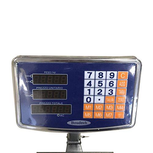 BILANCIA DIGITALE 300 KG A PIATTAFORMA ELETTRONICA DISPLAY LCD RETROILLUMINATO DIGITALE INDUSTRIALE PIEGHEVOLE *BILANCIATCS300K* - 3