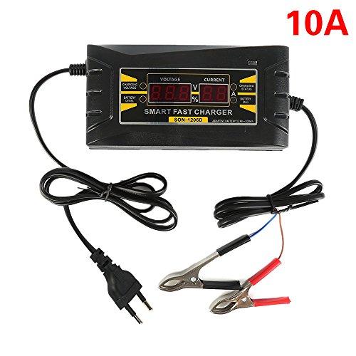 Wisamic 12V 10A Smart - Fast Ladegerät LCD Display Souer für Auto Motorrad (240v Schritt)
