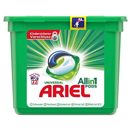 Ariel All-in-1 PODS Universal Strahlend Rein - 22Waschladungen