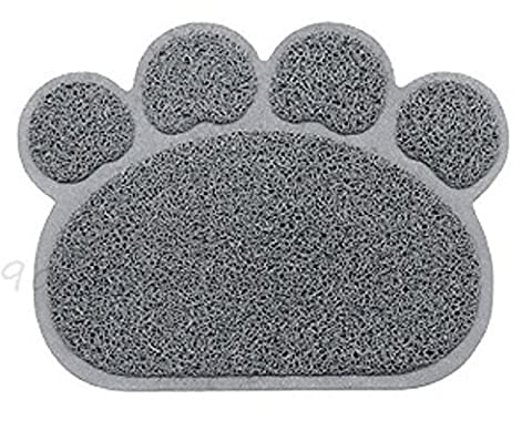 New Pet Feeding Mat Paw/Straight,Dog/Puppy/Cat/Kitten PlaceMat/Dish/Bowel, PVC ( 2 design . 2 colors ) (Paw Shape,