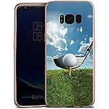 Samsung Galaxy S8 Hülle Silikon Case Schutz Cover Golf Golfschläger Sport