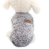 Ropa Perros, AIMEE7 Perro Mascota Cachorro CláSico SuéTer Polar SuéTer Ropa Caliente Invierno SuéTer Ropa Perros Cachorros (Size:XL, Gris)