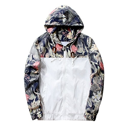 Juleya Herren Kapuzenjacke Zipper Pullover Coats Casual Jacken Sport Hiphop Sweatjacke Blumenbomber Langarmshirt Slim Fit Jacke Cardigan Hoodie Outwear Outfits 6 Farben M-4XL