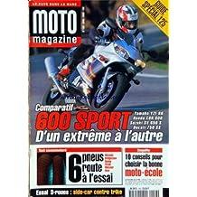 MOTO MAGAZINE [No 156] du 01/04/1999 - SPECIAL GUIDE 125 - COMPARATIF 600 SPORT - 6 PNEUS ROUTE A L'ESSAI - 10 CONSEILS POUR CHOISIR LA BONNE MOTO-ECOLE - ESSAI 3-ROUES / SIDE-CAR CONTRE TRIKE