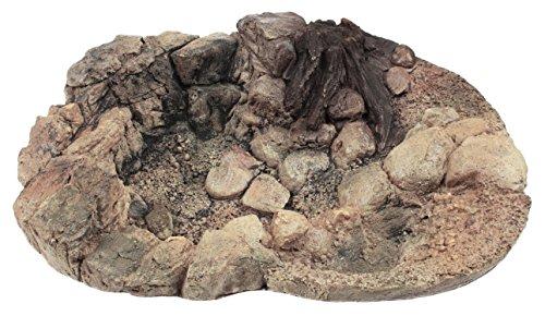 Acuami Terrarium Badeschale - Wassernapf zum Baden und Trinken für Reptilien und Amphibien - Terraristik-Zubehör - Deko in Stein-Optik (L)