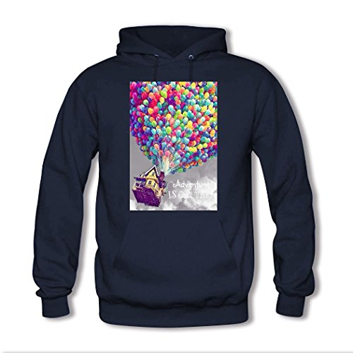 HGLee Printed DIY Custom Adventure Is Out There Women's Hoodie Hooded Sweatshirt Navy--2