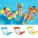 Colorful Erwachsene Summer Water Floating Toys,Swimming Pool Foldable Inflatable Seat für Herren und Damen,Gelb
