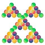 Schramm® 50er Pack Flummi Frost 27mm Flummis Springball Hüpfball Mitgebsel Tombola Kindergeburtstag