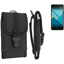 bolsa del cinturón / funda para BQ Aquaris M5, negro | caja del teléfono cubierta protectora bolso - K-S-Trade (TM)