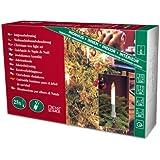 Konstsmide 1126-000 Baumkette mit Schaftkerzen /  für Innen (IP20) /  230V Innen / teilbarer Stecker / 25 klare Birnen / grünes Kabel