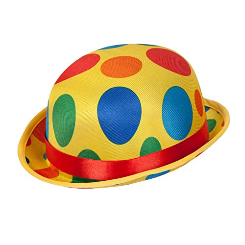 Clown Bowler hat fancy dress accessory for circus theme (Fancy Circus Dress)