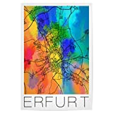 artboxONE Poster 30x20 cm Städte Retro Map of Erfurt