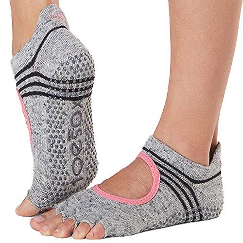 Socken, Ballet Schuhe (Toesox Damen Grip Pilates Barre Socks-Non-Slip Bellarina Half Toe for Yoga & Ballet, Aerobic, m)