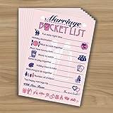 Marriage Bucket List - Words Of Wisdom - Hen Night Party Game