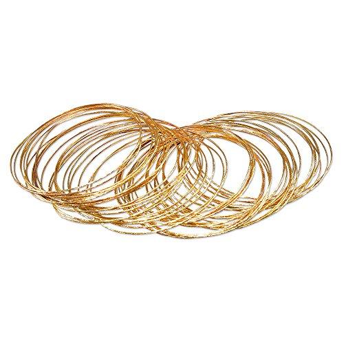 Kostüm Gold Ringe - Bristol Novelty BA1002 Armring, Gold, Damen, Einheitsgröße