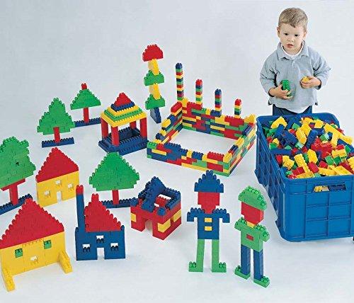 Italveneta Didattica 010–Caja para juguetes, apilable, color varios colores rojo/verde/amarillo/azul, 1unidad