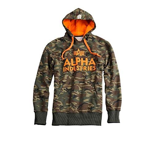 Alpha Industries Foam Print Hoody Herren Pullover Kapuzenpullover 143302 woodl camo