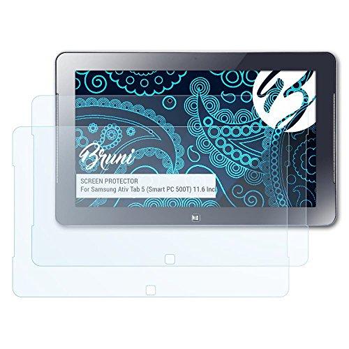 Bruni Schutzfolie für Samsung Ativ Tab 5 (Smart PC 500T) 11.6 Inch Folie, glasklare Displayschutzfolie (2X)