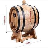 1.5L Eiche Barrel Liquor Blase Weihnachtsgeschenk Bar Hotel Sets Holzfass Dekoration Real Oak Kein Wachs Backen Eichenfässern(Wood color)