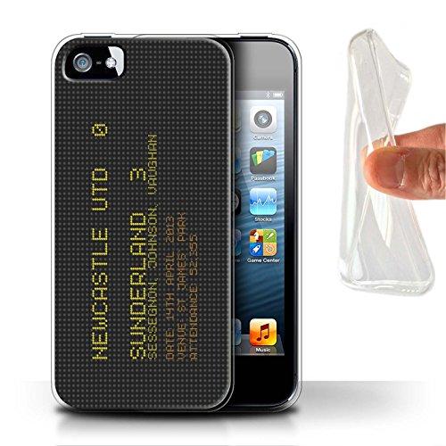 Officiel Sunderland AFC Coque / Etui Gel TPU pour Apple iPhone SE / Pack 6pcs Design / SAFC Résultat Football Célèbre Collection 2013