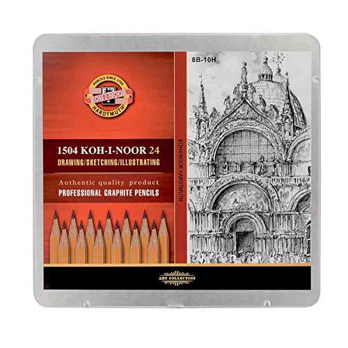 Koh-I-Noor - Confezione di 24 matite da 8B a 10H