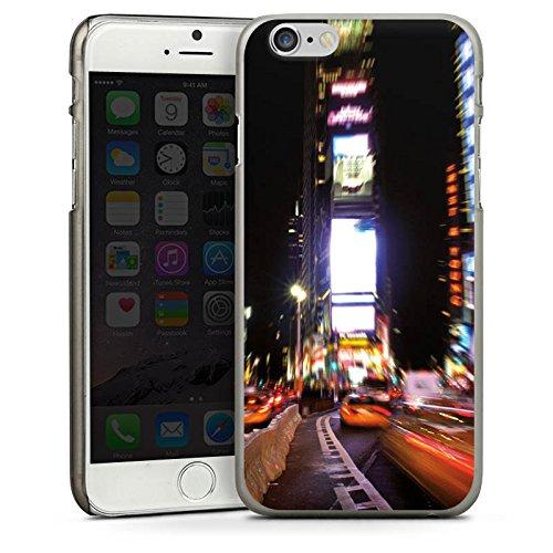 Apple iPhone 6 Housse Étui Silicone Coque Protection Times Square Broadway New York City CasDur anthracite clair