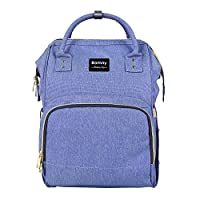 BAMNY Baby Diaper Bag Organizer Insulated Waterproof Travel Nappy Backpack Large Capacity Tote Shoulder Nappy Bags for Mommy Backpack with Multi-Function, Durable and Stylish (Purple)