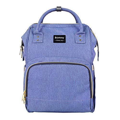 BAMNY Organisateur de sac à langer pour bébé Isolé Sac à dos de voyage imperméable à l'eau Sac de couchage à grande capacité pour femme Sac à dos pour maman (Violet)