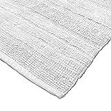 Paco Home Badematten Badezimmermatte Badteppiche Baumwolle in Uni versch. Farben u. Größen, Grösse:60x100 cm, Farbe:Weiß