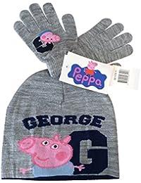 Peppa Pig George Juego de gorro y guantes talla única 3–8años