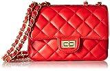 Bolso bandolera clásico para mujer, bolso acolchado con bolso de cadena con cadena de metal