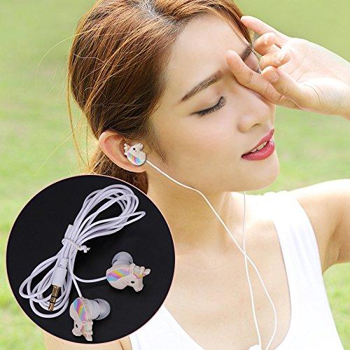 d Kopfhörer Regenbogen-Pferd Muster 3.5mm In-Ear Ohrhörer für iPhone Samsung Musik-MP3 ()