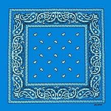 Foulard bandana tour de cou - Paisley USA turquoise - Country - Cowboy -  Moto 61c665c8337