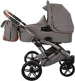 Knorr-Baby Kombi-Kinderwagen Voletto Premium grau