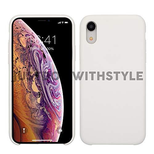 Silicon Hülle (JDIWS Case Kompatibel mit Apple iPhone XR, Hülle, Weiches Silikon, Schutzhülle, dünn, Stylisch, Cover, Weich, Rutschfest, Robust, Sicher, Schutz, Handyhülle, weiß)