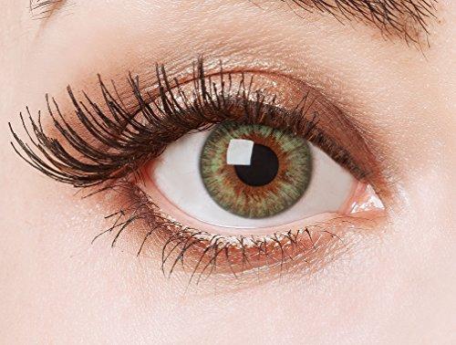aricona Farblinsen grüne Cosplay Kontaktlinsen – Natürliche Circle Lenses, farbig bunte Jahreslinsen, Linsen für Anime & Manga Looks, für helle Augenfarben