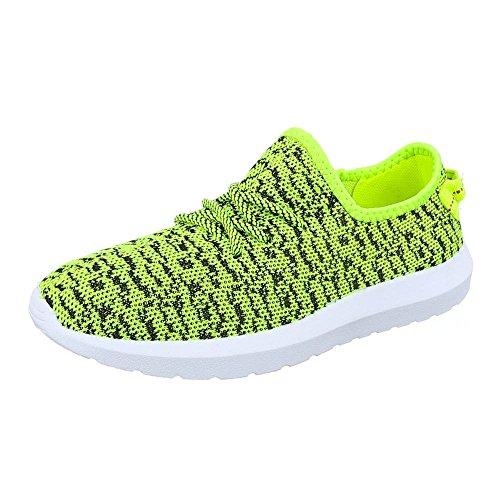 Ital-Design , Sneakers Basses homme Jaune - Jaune fluo