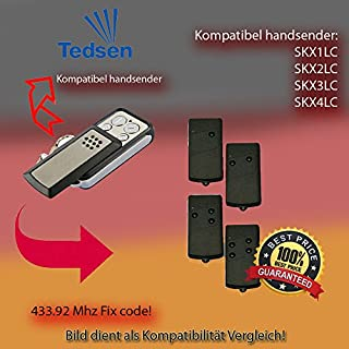 Kompatibel mit model TEDSEN SKX1LC, SKX2LC, SKX3LC, SKX4LC Handsender ersatz, klone