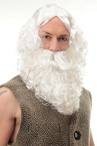 Karnveval Fasching Weihnachten Weihnachtsmann Perücke & Bart Santa Claus (Bart Kostüm Dumbledore)