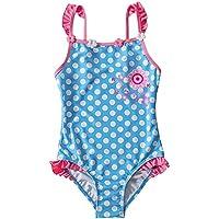Liuzecai Trajes de baño Lindo Ropa for bebés y niños pequeños niñas baño de una Pieza de la Playa del bañador de los niños for Las Vacaciones para Las niñas Niños (Color : Blue, Size : L)