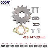 GOOFIT 428 14 T 20mm dents moto Pignon moteur Pignons coniques de chaîne Engine For 50cc 70cc 90cc 110cc Motorcycle Dirt Bike ATV Quad