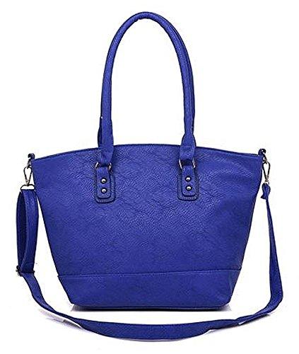 Kukubird Ecopelle Minimalista Contemporaneo Tote Handbag Shoulder Bag Blue