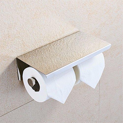 LOSTRYY Toilettenpapier Halter WC-Papier Halter und WC-Bad-Fach Kleenexbox -