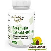 Vita World Artemisia annua extrait (30:1) 400mg 100 Capsules Artemisinin Artémisine armoise annuelle Made in Germany
