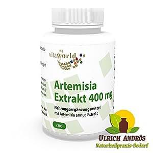 Estratto di Artemisia annua 400mg 100 Capsule Vita World Farmacia Assenzio Secco