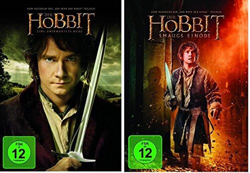 Der Hobbit: Smaugs Einöde + Eine unerwartete Reise * Teil 1+2 * DVD Set (Hobbit Eine Unerwartete Reise Dvd)