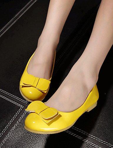 DFGBDFG PDX/Damen Schuhe Patent Leder flach Ferse Ballerinas Office & Karriere/Kleid/Casual Gelb/Pink/Rot, red-us8/eu39/uk6/cn39 - Größe: One Size (Patent Leder-ballerina-flache Red Schuhe)