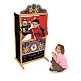 Melissa & Doug Deluxe Puppet Theatre - Sturdy Wooden Construction